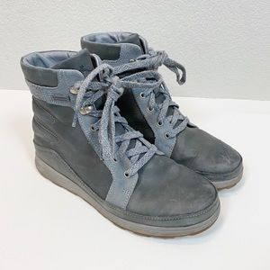 Chaco Castlerock Gray Waterproof Hiking Boots
